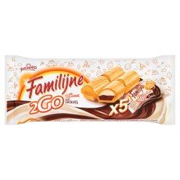 2Go mleczno czekoladowe Wafelek z nadzieniami 100 g (5 sztuk)