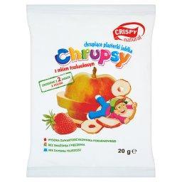 Chrupsy Chrupiące plasterki jabłka z sokiem truskawkowym 20 g