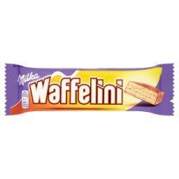 Waffelini Wafelek oblany czekoladą mleczną przekładany kremem