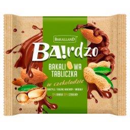 Ba!rdzo Bakaliowa tabliczka w czekoladzie daktyle solone arachidy migdały