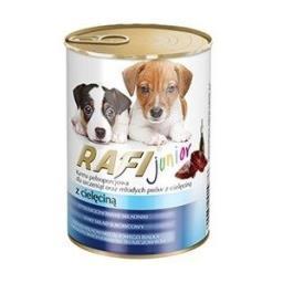 Mokra karma dla psa junior z cielęciną puszka 400 g