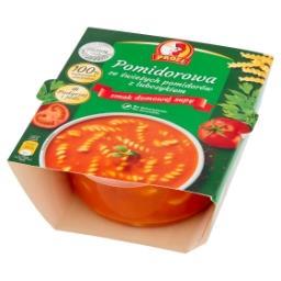Pomidorowa ze świeżych pomidorów z lubczykiem