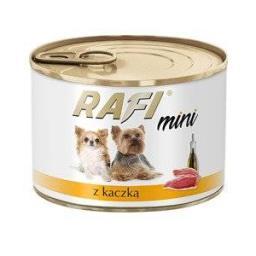 Rafi Mini z kaczką karma mokra dla psów ras małych i miniaturowych 185g