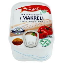 Filety bez skóry z makreli w sosie pomidorowym