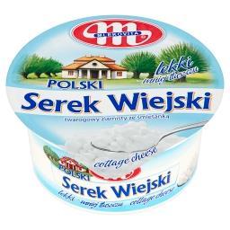 Polski Wiejski lekki Serek twarogowy ziarnisty ze śmietanką