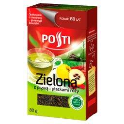 Zielona z pigwą i płatkami róży Herbata liściasta