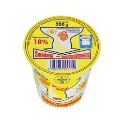 Śmietana homogenizowana 18% 200 g