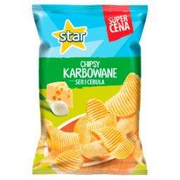 Chipsy karbowane o smaku ser i cebula