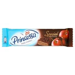 Dark Cherry Wafel przekładany kremem o smaku wiśniowym oblany czekoladą deserową