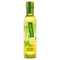 Olej rzepakowy z pierwszego tłoczenia z cytryną i ba...