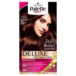 Deluxe Oil-Care Color Farba do włosów Czekoladowy brąz 750