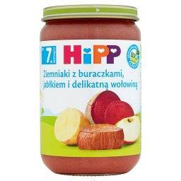 BIO Ziemniaki z buraczkami jabłkiem i delikatną wołowiną po 7. miesiącu