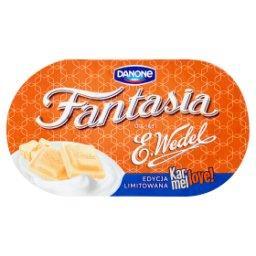Fantasia Karmellove! Jogurt kremowy z kawałkami czekolady białej karmelowej