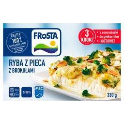 Ryba z pieca z brokułami