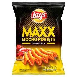 Maxx Mocno Pogięte o smaku Orientalna salsa Chipsy ziemniaczane