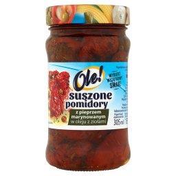 Suszone pomidory z pieprzem marynowanym w oleju z zi...