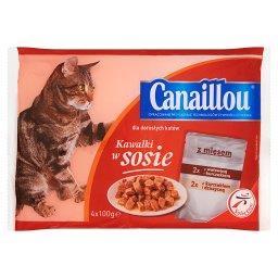 Kawałki w sosie Pełnoporcjowa karma dla dorosłych kotów z mięsem