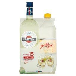 Martini Bianco Aromatyzowany napój na bazie wina 1 l i Shweppes Indian Tonic Napój gazowany 1 l