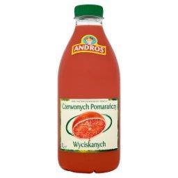 100% sok z czerwonych pomarańczy wyciskanych 1 l