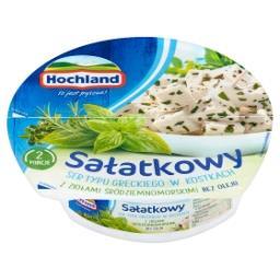 Sałatkowy ser typu greckiego w kostkach z ziołami śr...