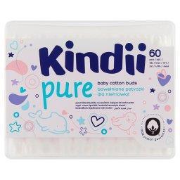 Kindii Baby Sensitive Bawełniane patyczki dla niemowląt 60 sztuk