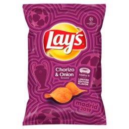 Chipsy ziemniaczane o smaku kiełbaski chorizo