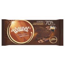 Czekolada gorzka 70% Cocoa z drobinkami kawy i ziarn...