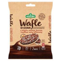 Wafle ryżowe z belgijską czekoladą deserową i kawałkami maliny liofilizowanej  (2 sztuki)