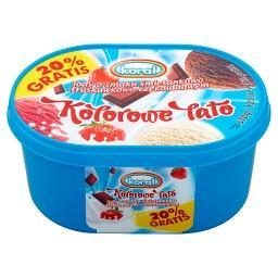 Kolorowe lato Lody o smaku śmietankowo-truskawkowo-czekoladowym