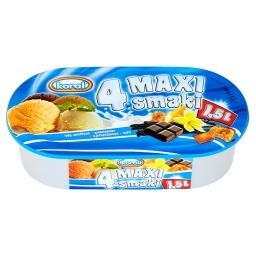 4 Maxi smaki Lody waniliowo-czekoladowo-ajerkoniakowo-toffi 1,5 l