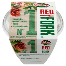 Red Fork No 1 Sałata kasza bulgur pomidory suszone rukola dressing vinegrette