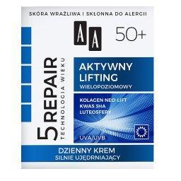 Technologia Wieku 5Repair 50+ Aktywny lifting dzienny krem silnie ujędrniający 50 ml
