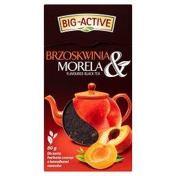 Brzoskwinia & Morela Liściasta herbata czarna z kawałkami owoców