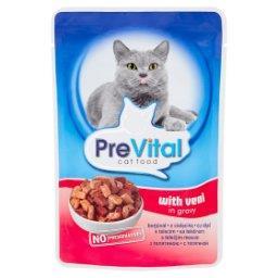 Pełnoporcjowa karma dla dorosłych kotów z cielęciną w sosie saszetka