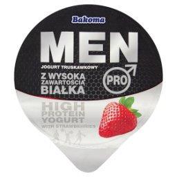 Men Pro Jogurt truskawkowy z wysoką zawartością białka