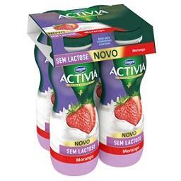 Activia líquido s/ lactose morango