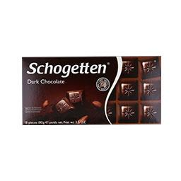 Tablete de chocolate preto schoget