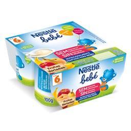 Iogurte para bebé frutas variadas
