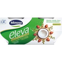 Iogurte eleva com fermentos naturais quinoa, avelã e...