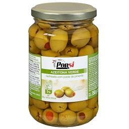 Azeitona verde com pimento