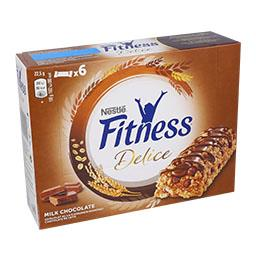 Barras fitness chocolate de leite