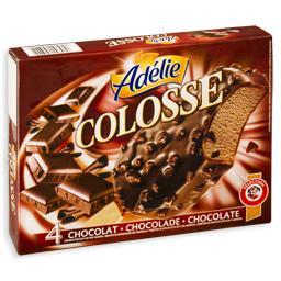 Gelado de chocolate e amêndoa