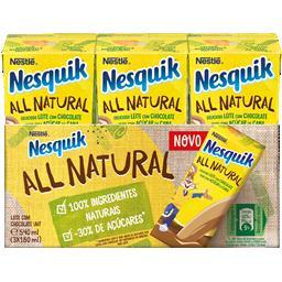 Leite all natural com chocolate