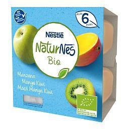 Maçã, manga e kiwi 0% açúcar desde os 6 meses bio