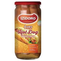 Salsichas hot dog aves