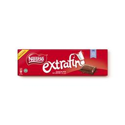 Tablete de chocolate extra fina leite
