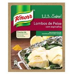 Knorr 1, 2, 3...sabor! - peixe com espinaf. 28gr