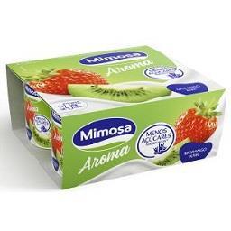 Iogurte sólido aroma sabor a morango kiwi
