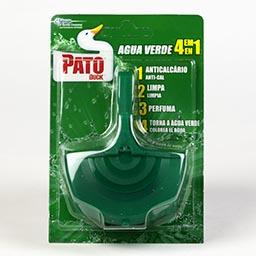 Bloco sanitário verde, com suporte
