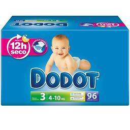 Fraldas bebé t3, 4-10 k, 96 unidades